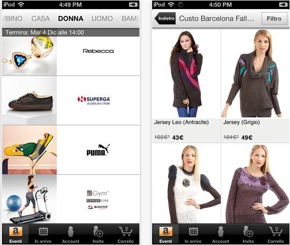 l 39 app ufficiale di amazon buyvip approda su app store