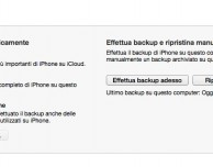 Come funziona il backup dell'iPhone su iTunes 11