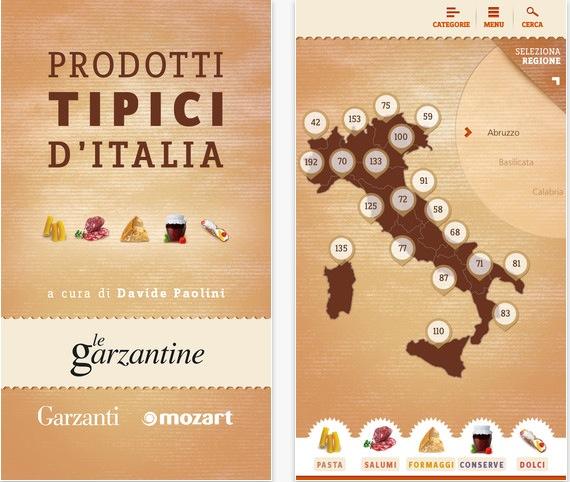 Prodotti tipici d 39 italia la nuova app di garzanti libri for Prodotti tipici roma