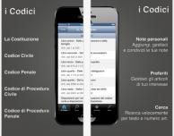 I Codici: l'app gratuita e senza pubblicità che consente di consultare i principali testi normativi italiani