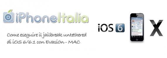 Guida jailbreak ios 6 mac iphone evasi0n