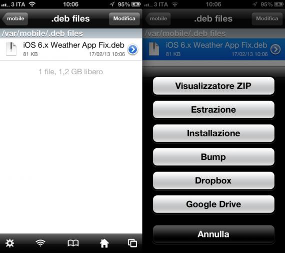 Meteo Fix iOS 6 iPhone
