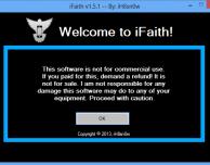 iH8sn0w rilascia iFaith 1.5.1, il programma multifunzione utile per chi esegue il jailbreak