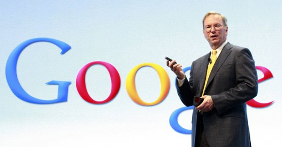 File of Google Chairman Eric Schmidt speaking at a Motorola phone launch event in New York
