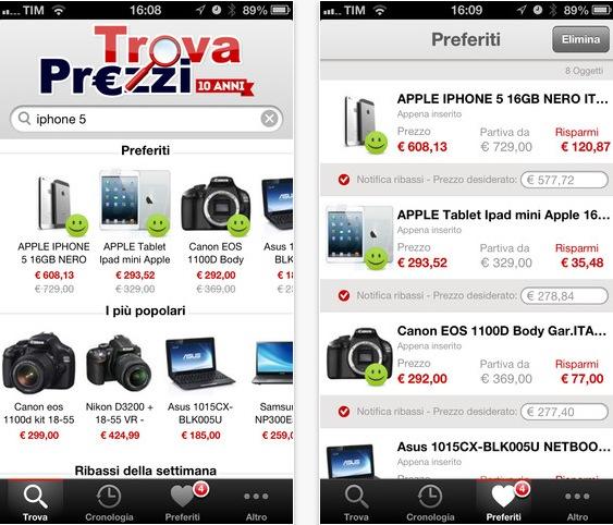 Si aggiorna TrovaPrezzi, l\'app delle offerte per tutti gli utenti ...