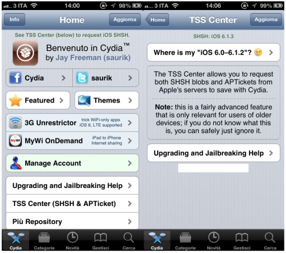 TSS Center iPhone Cydia