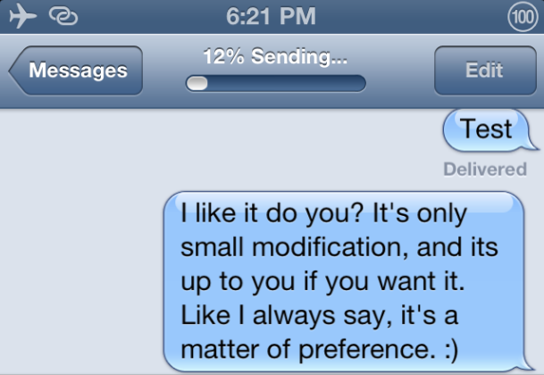 how to override sms and send imessage
