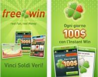 Su App Store sbarca FreeWin, l'app gratuita che ti fa vincere soldi veri