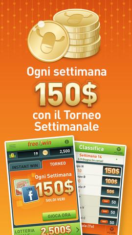 FreeWin - vinci soldi veri - iPhone