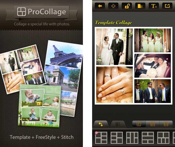 ProCollage: creiamo fantastici collage in un paio di tap