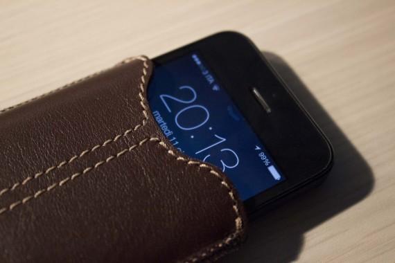 custodia iphone 4s in pelle