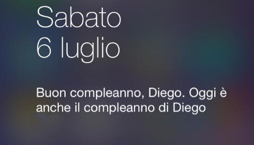 Il Centro Notifiche di iOS 7 ti farà gli auguri il giorno del