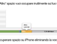 """Come eliminare lo spazio occupato dalla voce """"Altro"""" su iPhone"""