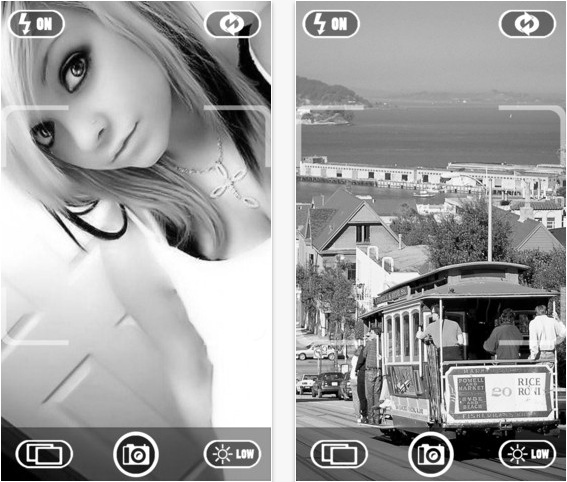 Foto in bianco e nero su iphone con black white camera for Foto hd bianco e nero