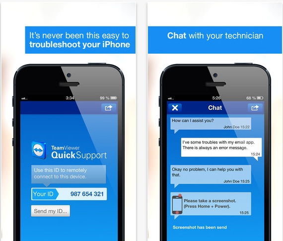 TeamViewer QuickSupport iPhone pic0