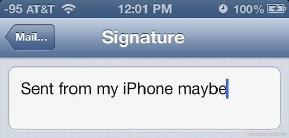 how to change wifi signature on iphone