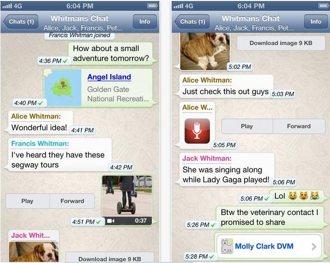 WhatsApp Messenger si aggiorna con un nuovo video picker