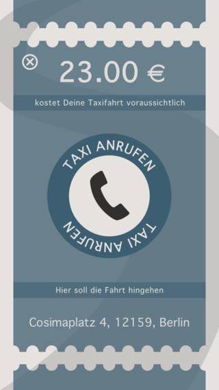 Taxometer iPhone pic2