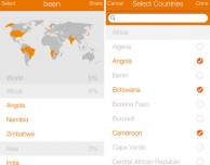 been, l'app che permette di tenere traccia dei paesi visitati