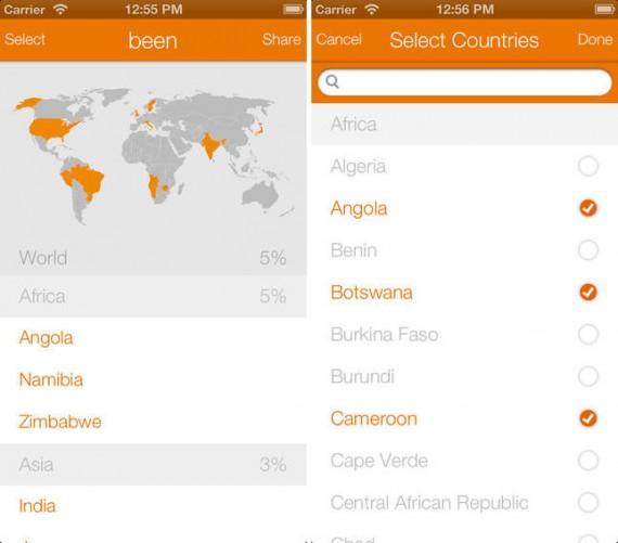 Cartina Geografica Per Segnare Luoghi Visitati.Been L App Che Permette Di Tenere Traccia Dei Paesi Visitati Iphone Italia