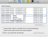 Come archiviare un vecchio backup su iTunes del nostro iPhone per utilizzarne uno nuovo – Guida