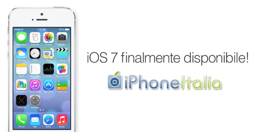 iOS 7 è finalmente disponibile per il download su tutti i dispositivi!