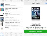 """Applicazione Apple Store: in offerta gratuita l'ebook """"Corpi Freddi"""" di Kathy Reichs"""