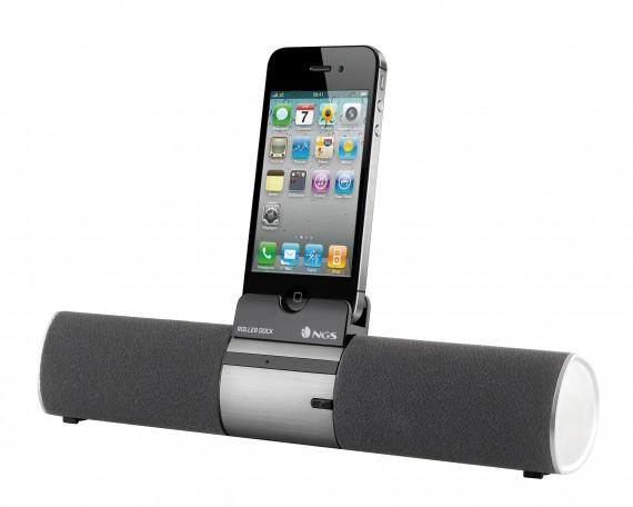 Roller dock la stazione di musica per iphone secondo ngs for Smartphone piccole dimensioni