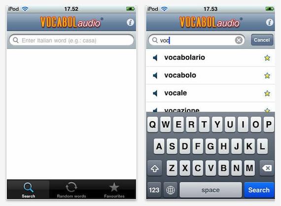 vocabolaudio screenshot