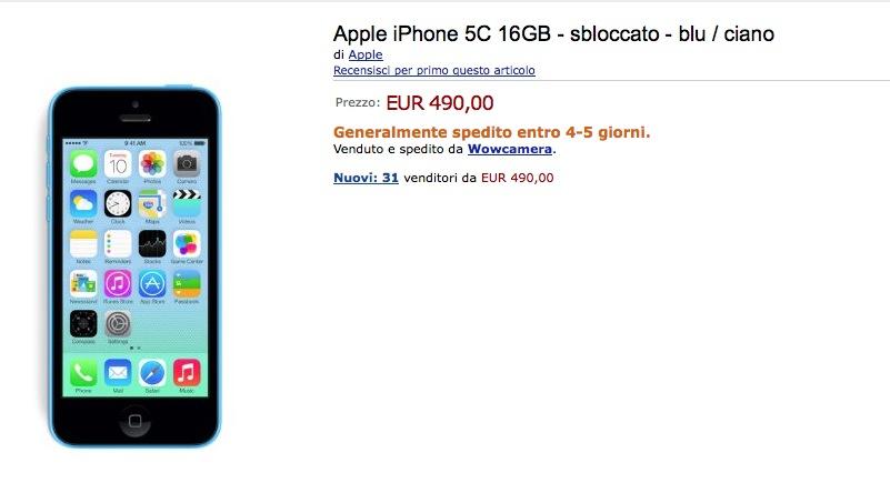 Iphone 5c nuovo amazon