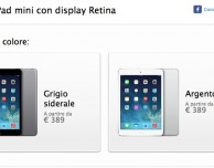 iPad mini Retina è ora disponibile su Apple Store online
