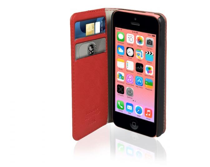 custodia a portafoglio per iphone 5c