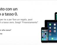 Apple lancia il finanziamento in 12 rate e a tasso zero per gli acquisti superiori ai 479€