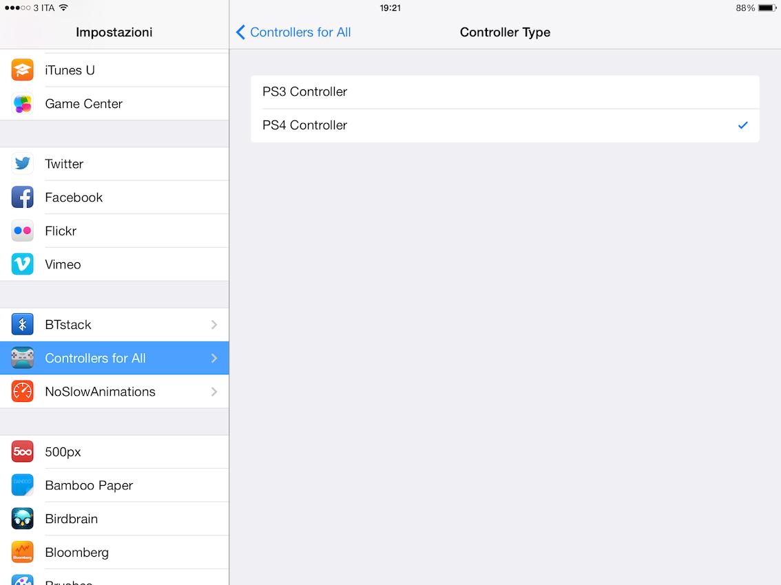 Come collegare il Controller della PS4 all'iPhone - Cydia