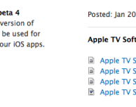 Disponibile la Beta 4 dell'Apple TV Software