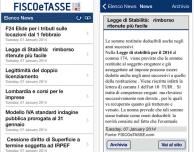 Fisco e Tasse News: l'app ufficiale per consultare da iDevice i contenuti del portale FiscoeTasse