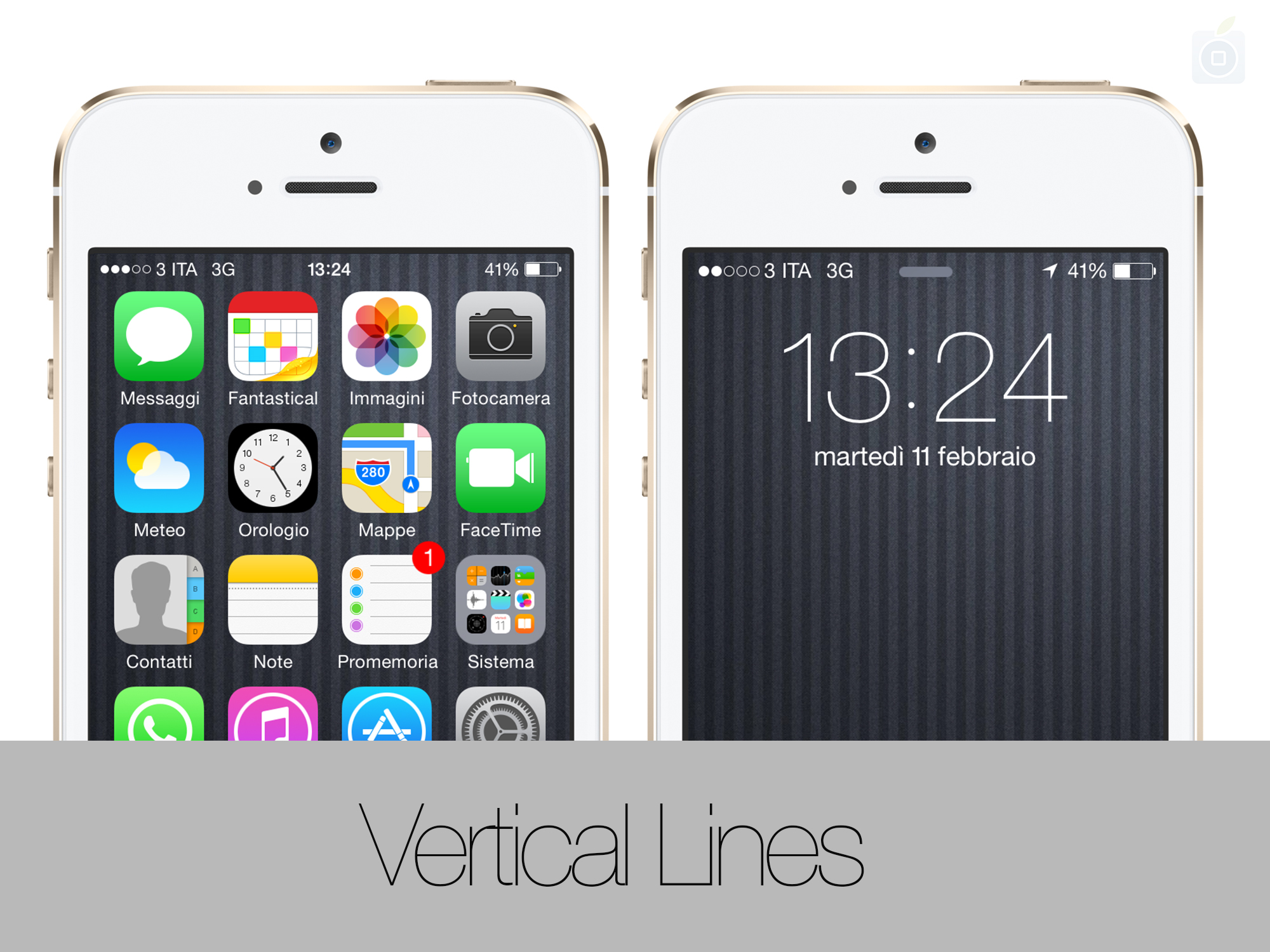 Iphone 4s schermo a righe blu
