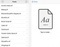 AnyFont: installiamo regolarmente i font su iOS