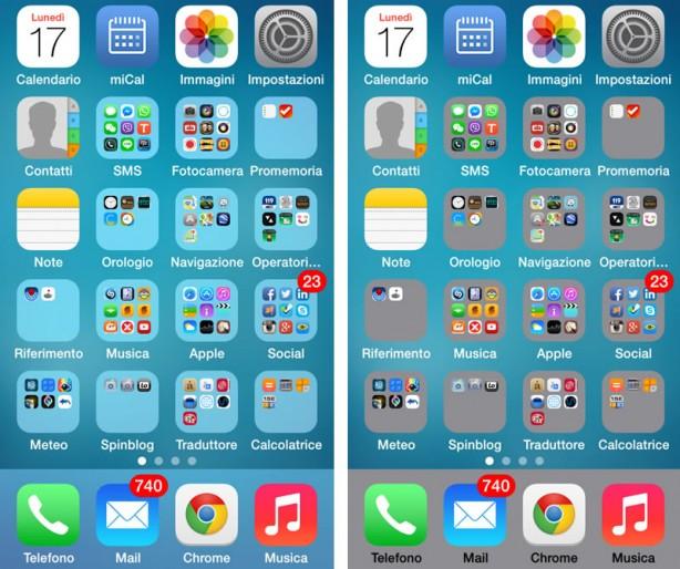 trasparenze iPhone iOS 7
