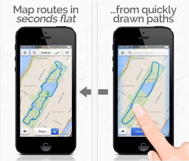 footpath route planner running cycling hiking maps
