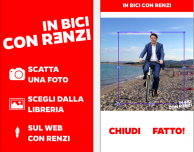 In bici con Renzi, per inserire il Premier in ogni foto