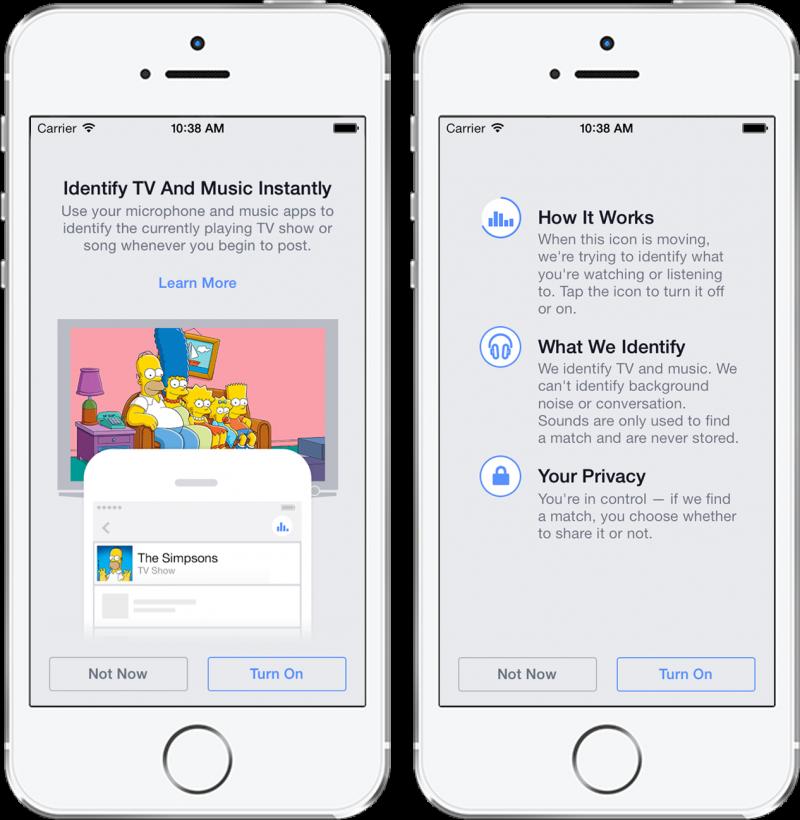 Facebook si ispira a Shazam e annuncia un servizio per riconoscere musica e serie TV