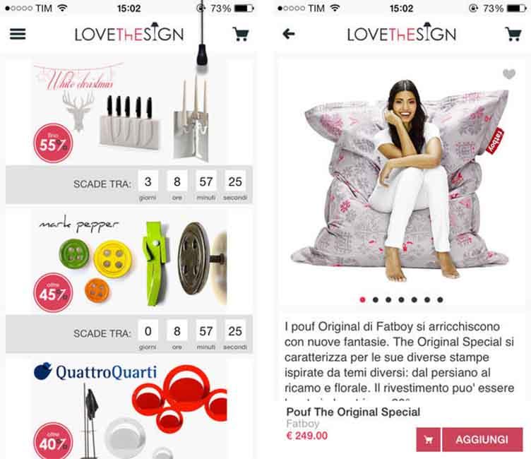 Lovethesign mobili e oggetti di design per tutte le for Mobili di design occasioni