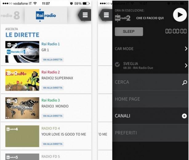 L 39 app radio rai si aggiorna con tante novit iphone italia for Radio parlamento streaming