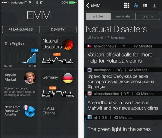 EMM Analizzatore di Notizie iPhone pic0