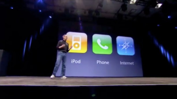 Steve-Jobs-2007-iPhone-iPod-phone-internet-communicator