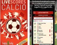Livescores Calcio: la prima app di calcio con risultati e chat in diretta!
