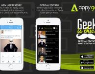 """Appy Geek lancia l'edizione """"Geek is chic!"""": gli utenti potranno creare il contenuto dell'app"""