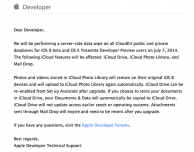 Attenzione al 7 luglio: Apple eliminerà i contenuti in CloudKit salvati tramite iOS 8