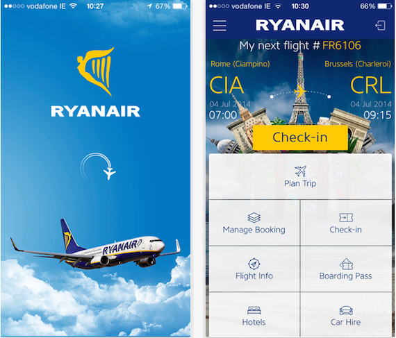 RyanAir - iPhone App - 1